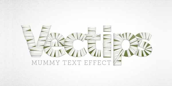 Create a Mummy Text Effect using Illustrator