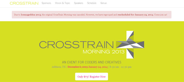 CrossTrain Morning - An Event for Coders and Creatives