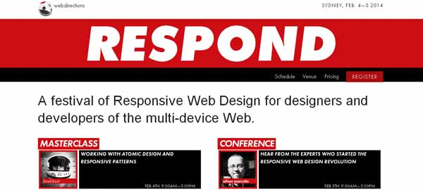RESPOND - A Festival of Responsive Web Design for Designers and Developers of the multi-device Web