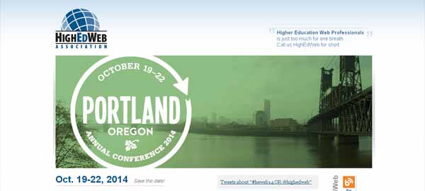 HighEdWeb 2014: The Annual Conference for Higher Education Web Professionals