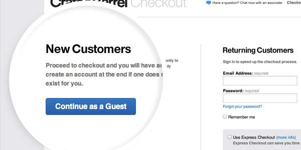Easy Registrations or Guest Checkouts