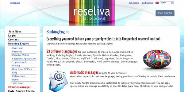 Reseliva Booking Engine