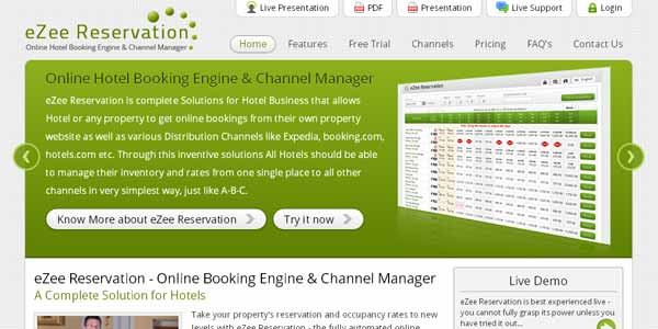 eZee Reservation - Online Reservation Engine for Hotels