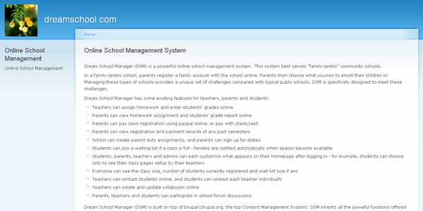 DreamSchool - Online School Management System