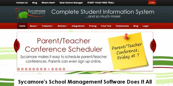 Online Student Information System by Sycamore