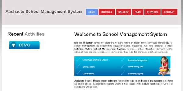 Aashaste School Management System