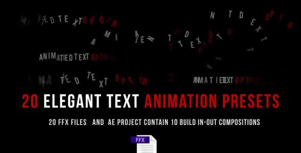 After Effects Preset - Animated Text