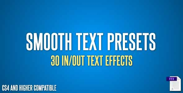 how to use text animation presets in after effects