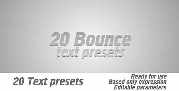 Bounce Text Presets Pack