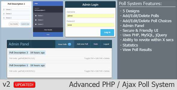 Advanced PHP Ajax Poll System