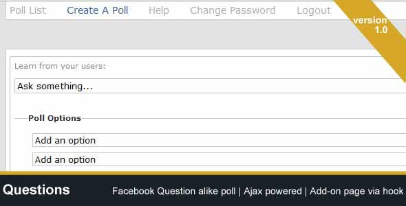 Questions - Facebook Question Alike Poll