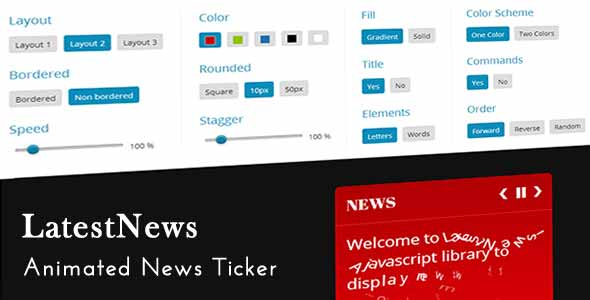 LatestNews - Animated News Ticker