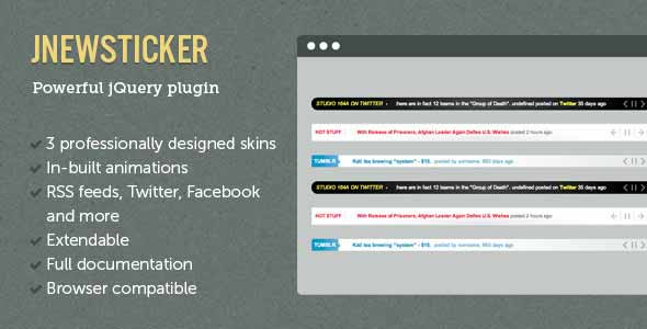 jNewsticker - jQuery News Ticker