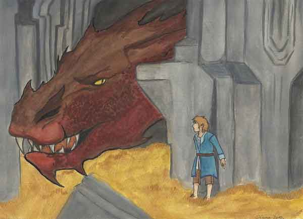 Smaug and Bilbo Painting
