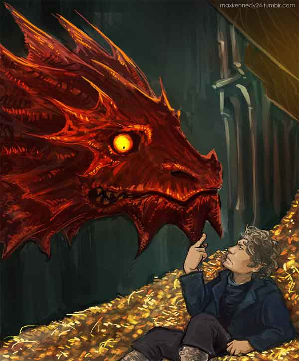 Bilbo Baggins and Smaug
