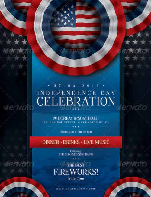 celebrating independence day  15 fourth of july flyer