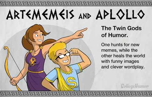 ArteMEMEsis and ApLOLlo - The Twin Gods of Humor