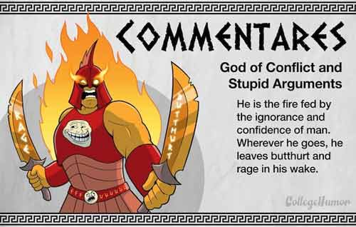 Commentares - God of Conflict and Stupid Arguments