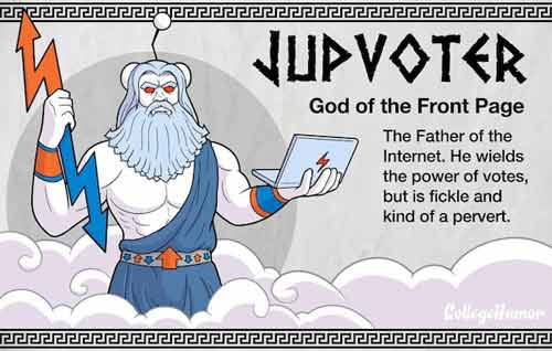 Jupvoter - God of the Front Page