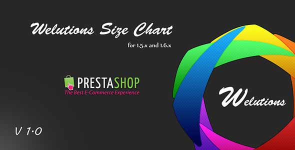 Welutions Size Chart for PrestaShop