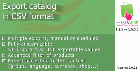 Export Catalog in CSV
