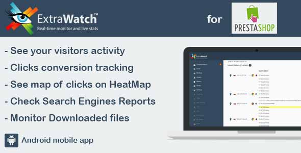ExtraWatch Heat Map, Real-time Visitor Tracking