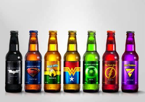 Superhero Inspired Beer Bottle Packaging Design