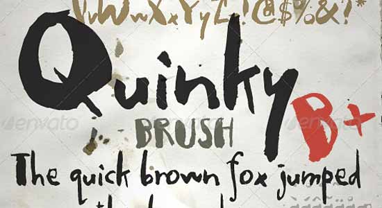Quinky - Hand Lettering with Brush and Ink
