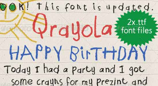'Qrayola' Children's First Handwriting