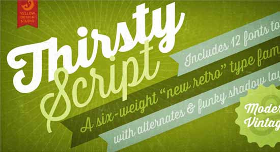 Thirsty Script Extra Bold Demo Font