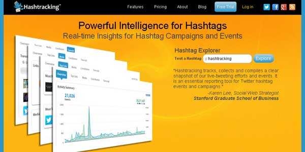 Hashtracking.com - Powerful Tracking for Hashtags