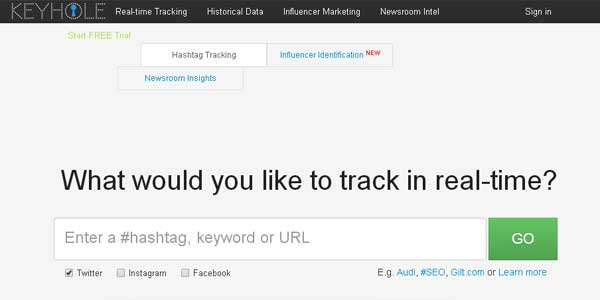 Keyhole - Hashtag Tracking for Twitter, Facebook and Instagram