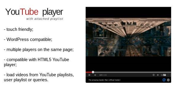 jQuery plugin - YouTube Video Player with Playlist