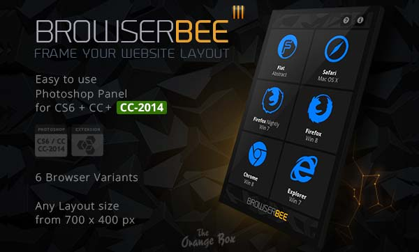 BrowserBee Photoshop Panel - Frame your Website Layout