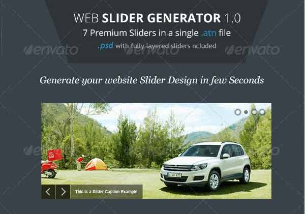 Web Slider Generator - Premium Photoshop Action