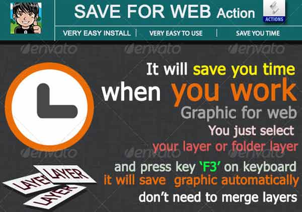 Save for Web Action on Photoshop