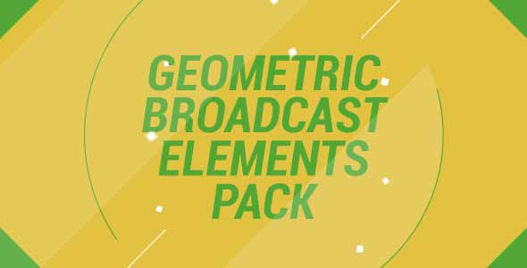 Geometric Broadcast Elements Pack