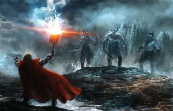 Thor in Jotunheimr Against the Frost Giants