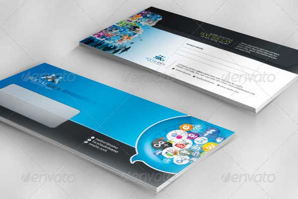 Social Idea Corporate Social Media Envelope Pack