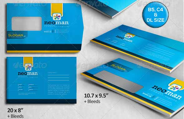 NeoMan: Corporate Clean Creative Envelope Pack