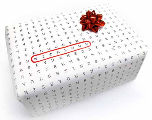 Gift Wrap with Universal Word Search Wrapping Paper