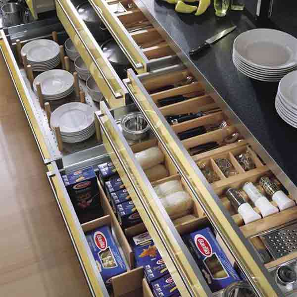 Kitchen Drawer Units with Compartments