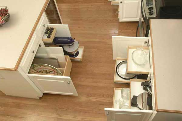 Kitchen Cabinets Upgrade to Glide-Outs