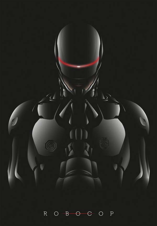 A poster for the upcoming Robocop film