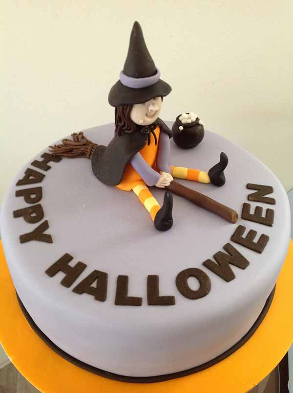 Cute Witch Halloween Cake