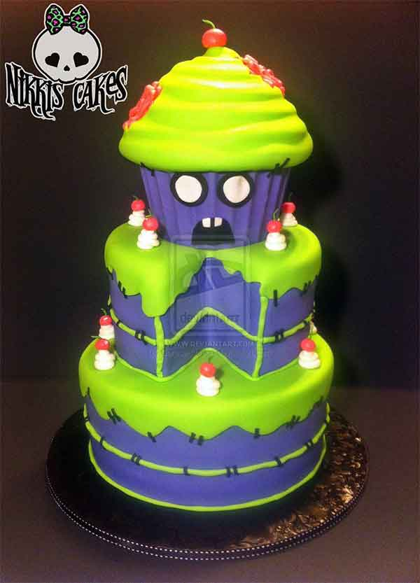 Zombie Sweets Cake
