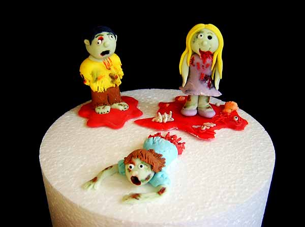 Edible Zombies Cake Toppers