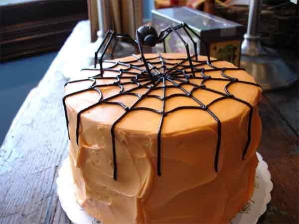 Orange Halloween Cake