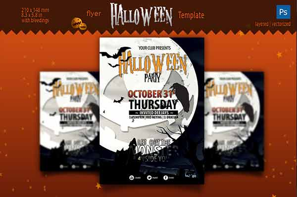 Halloween Flyer Design Templates