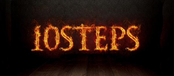 Design a Natural Fire Effect for Text in Photoshop